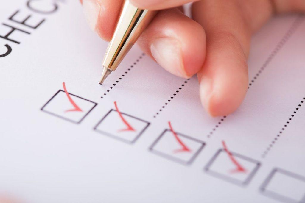 Контролен списък за безопасност на храните на всички здравни инспекции